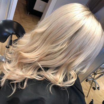 Long blonde locks at Bristol salon