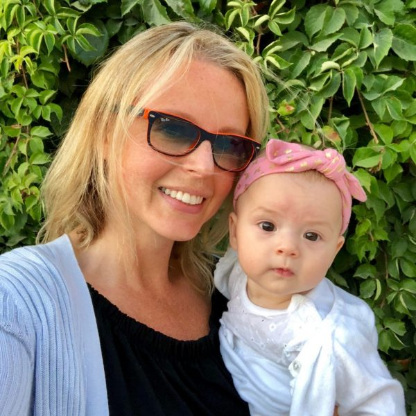 Mum With Postpartum Hair Loss And Baby