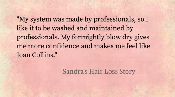 Positive quote from Female Hair Loss Client about her Enhancer System